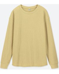 Uniqlo - Women Waffle Crewneck Long-sleeve T-shirt - Lyst
