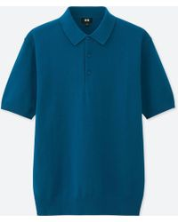Uniqlo - Men Washable Knitted Short-sleeve Polo Shirt - Lyst