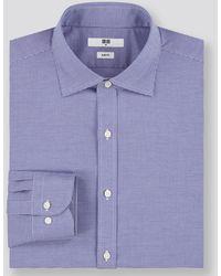 Uniqlo Camisa Fácil Cuidado Elàstica Slim Fit Cuadros - Azul
