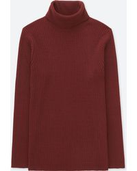 Uniqlo - Men Ribbed Turtleneck Long-sleeve Sweater (online Exclusive) - Lyst