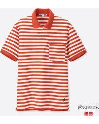Uniqlo - Men Jwa Dry-ex Striped Short-sleeve Polo Shirt - Lyst