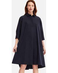 Uniqlo - Women Extra Fine Cotton A-line 3/4 Sleeve Dress - Lyst