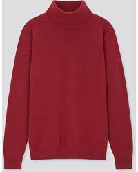 Uniqlo Maglione Dolcevita Lana Premium (Collo Alto) - Rosso