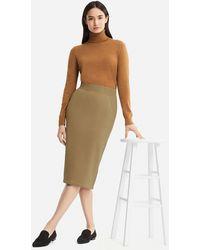 6a13198a9b Uniqlo Women Pile-lined Sweat Skirt in Black - Lyst