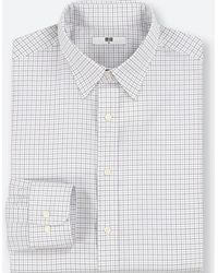 Uniqlo - Men Easy Care Checked Regular-fit Long-sleeve Shirt (online Exclusive) - Lyst