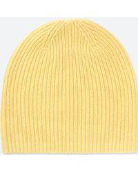 Uniqlo Cashmere Knitted Beanie Hat in Blue - Lyst f0de6682e8c8