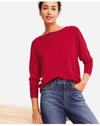 Uniqlo - Women Extra Fine Merino Boxy Boat Neck Sweater - Lyst