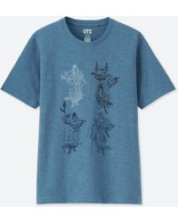 8609bb31e Lyst - Uniqlo Men Schwinn Graphic Short Sleeve T Shirt in Blue for Men