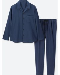 Uniqlo - Men Long-sleeve Flannel Pajamas - Lyst