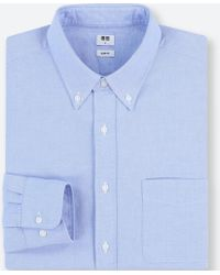 01f2c516486a Lyst - Uniqlo Men Denim Work Slim-fit Long-sleeve Shirt in Blue for Men