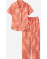 Uniqlo - Cotton Stretch Short Sleeve Pyjamas - Lyst