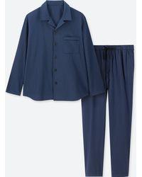 Uniqlo - Men Long-sleeve Flannel Pyjamas - Lyst