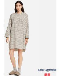 Uniqlo - Women Flannel Long-sleeve Pajamas (ines De La Fressange) - Lyst
