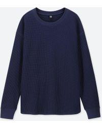 4604ebe3b8d2 Lyst - Uniqlo Women Supima® Cotton Ribbed Crewneck Short-sleeve T ...