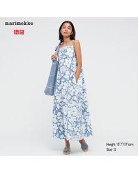 Uniqlo Marimekko Vestido Vaquero Tirantes - Azul