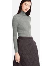 Uniqlo - Women Extra Fine Merino Ribbed Turtleneck Sweater - Lyst