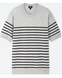 f1b62b95668 Lyst - Uniqlo Men Washable Striped Crewneck Long-sleeve Sweater in ...