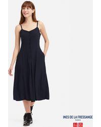 2b6235f86487 Uniqlo - Women Georgette Camisole Dress (ines De La Fressange) - Lyst