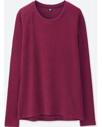 Uniqlo - Women Heattech Stretch Fleece Crew Neck Long-sleeve T-shirt - Lyst