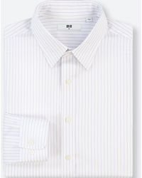 Uniqlo - Men Easy Care Striped Regular-fit Long-sleeve Shirt - Lyst