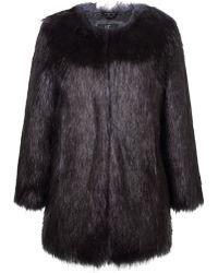 Unreal Fur - Midnight Coat - Lyst