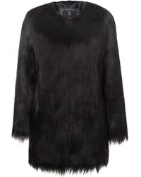 Unreal Fur - Wanderlust Coat In Black - Lyst