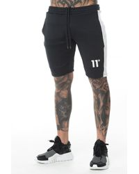 11 Degrees - Shorts In Black With Side Stripe - Lyst
