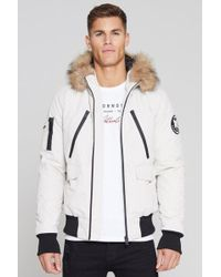 Good For Nothing - Bomber Jacket In Stone With Faux Fur Hood Exclusive To Asos - Lyst