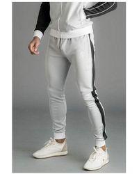 Gym King Colour Poly Tracksuit Bottom - Gray