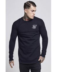 SIKSILK - Curved Hem Crew Sweater - Lyst