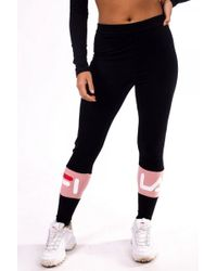 Fila - Dina Back Seem Legging - Lyst 73f788c6690