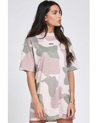 SIKSILK - Oversized Retro Tee Dress - Lyst