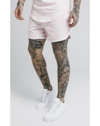 SIKSILK Standard Bound Swim Shorts Peachy Pink