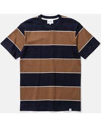 Norse Projects Johannes 3 Stripe T-shirt - Blue