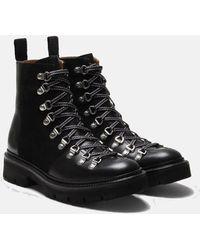 Grenson Womens Nanette Ski Boot (leather) - Black