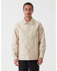 Le Laboureur Moleskin Work Jacket - Natural