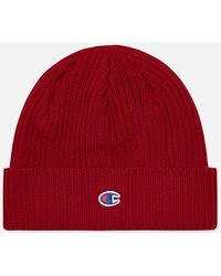 Champion Beanie Hat - Red