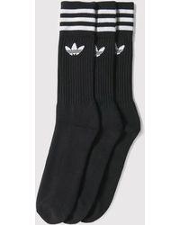 adidas Originals - Adidas Solid Crew Socks - Lyst