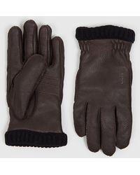 Hestra Deerskin Primaloft Rib Gloves - Brown
