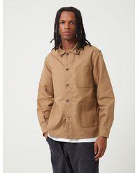 Le Laboureur Work Jacket (linen) - Brown