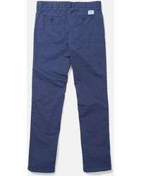 Norse Projects Aros Light Twill Slim Chino - Blue