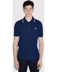 Fred Perry - Textured Knitted Polo Shirt - Lyst