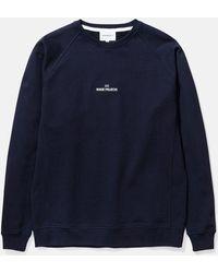 Norse Projects Ketel Wave Logo Sweatshirt - Blue
