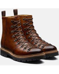 Grenson Brady Hand Painted Ski Boot - Brown