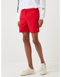 Carhartt Wip Chase Swim Shorts - Red