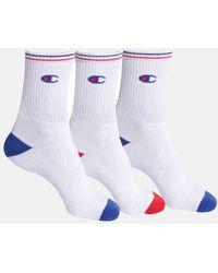 Champion Crew Performance Socks (pack Of 3) - White
