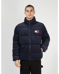 Tommy Hilfiger Tommy Jeans Corduroy Puffa Jacket - Blue