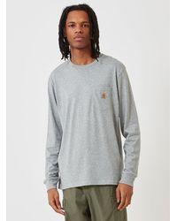 Carhartt Wip Pocket Long Sleeve T-shirt - Grey