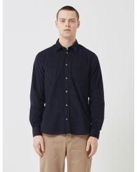 Norse Projects Osvald Corduroy Shirt - Blue