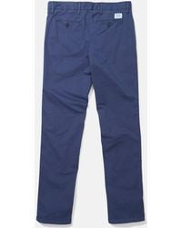 Norse Projects Aros Light Twill Chino (slim) - Blue